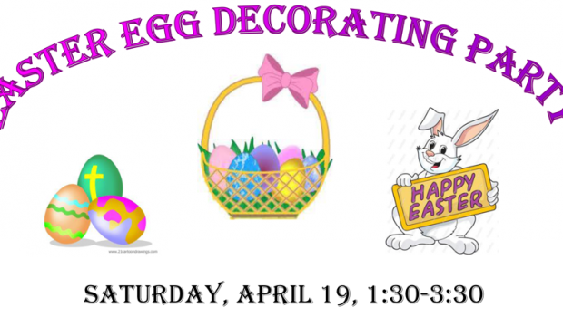 Come decorate Easter eggs and participate in our Easter egg hunt! Find out more.